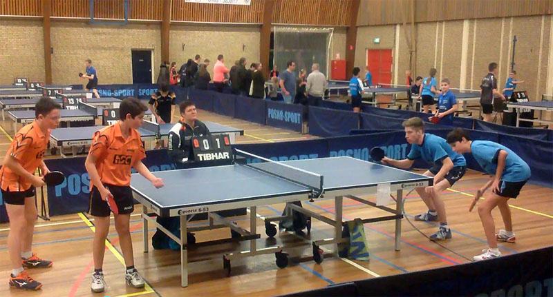 Mika en Julian winnen het dubbeltoernooi!
